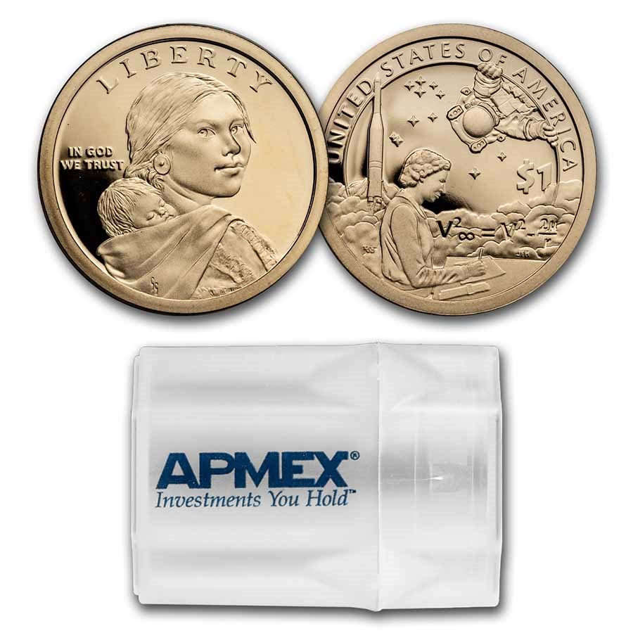 2019-S Native Amer $1 - Mary Golda Ross 20-Coin Roll Gem Proof