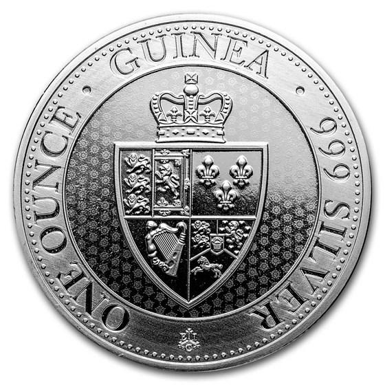 2019 Saint Helena 1 oz Silver £1 Spade Guinea Shield BU