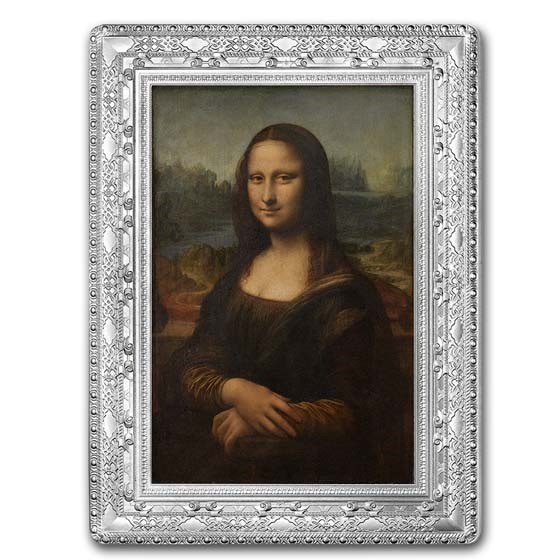 2019 Silver €10 Masterpieces of Museums Proof (Mona Lisa)