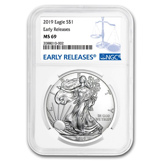 2019 Silver American Eagle MS-69 NGC (Early Releases)