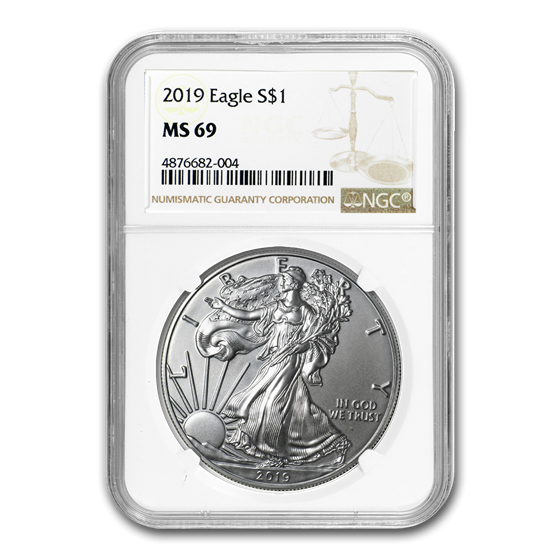 2019 Silver American Eagle MS-69 NGC