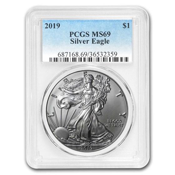 2019 Silver American Eagle MS-69 PCGS