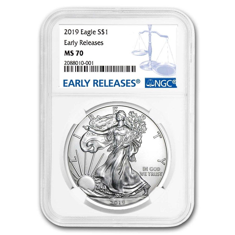 2019 Silver American Eagle MS-70 NGC (Early Releases)