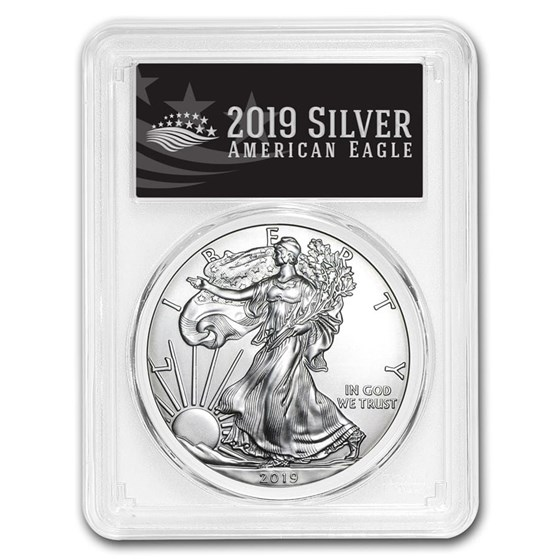 2019 Silver American Eagle MS-70 PCGS (FirstStrike® Black Label)