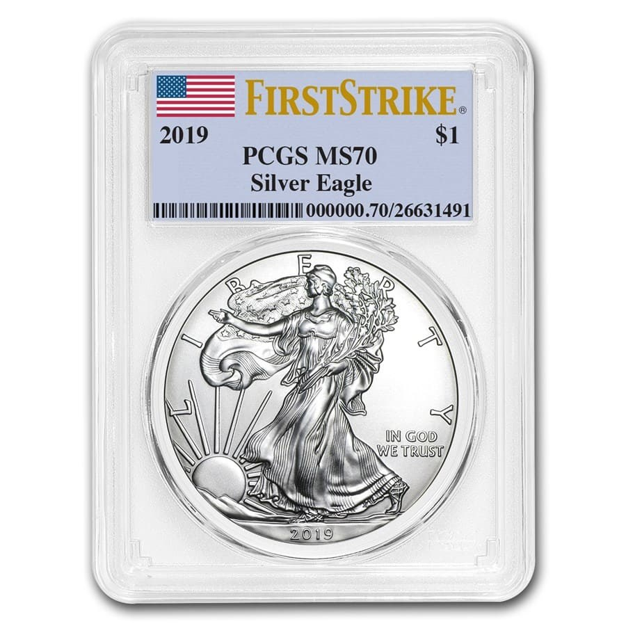 2019 Silver American Eagle MS-70 PCGS (FirstStrike®)