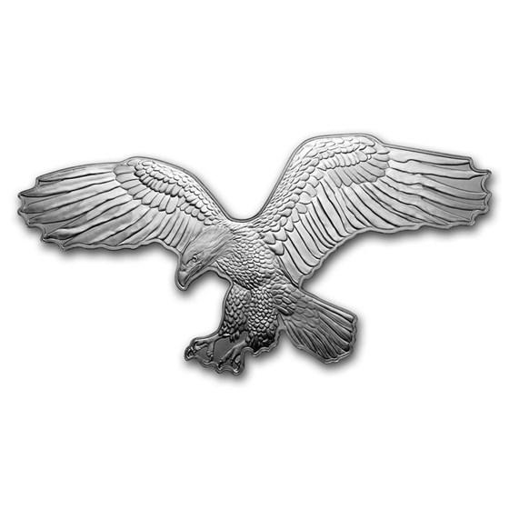 2019 Solomon Island 1 oz Silver $2 Hunters of the Sky: Bald Eagle