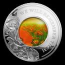 2019 Solomon Island 5 oz Silver WWI Armistice Centenary Red Poppy