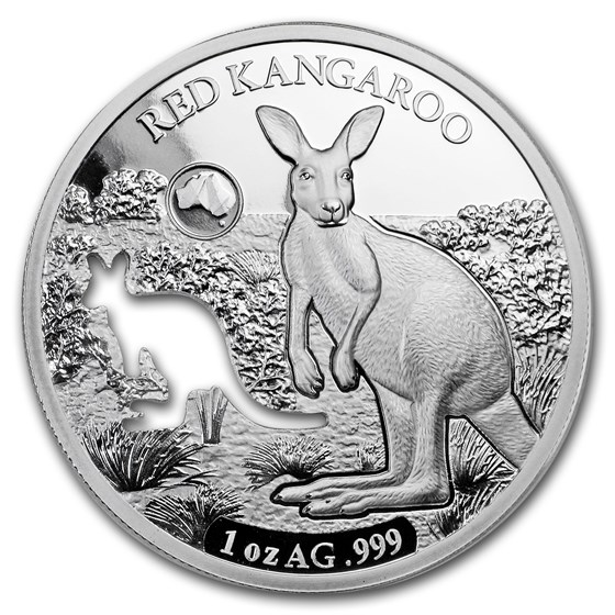 2019 Solomon Islands 1 oz Silver Shapes of Australia (Kangaroo)