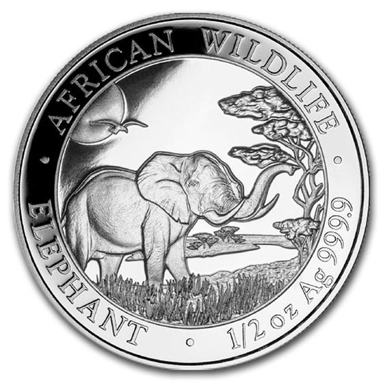 2019 Somalia 1/2 oz Silver Elephant BU