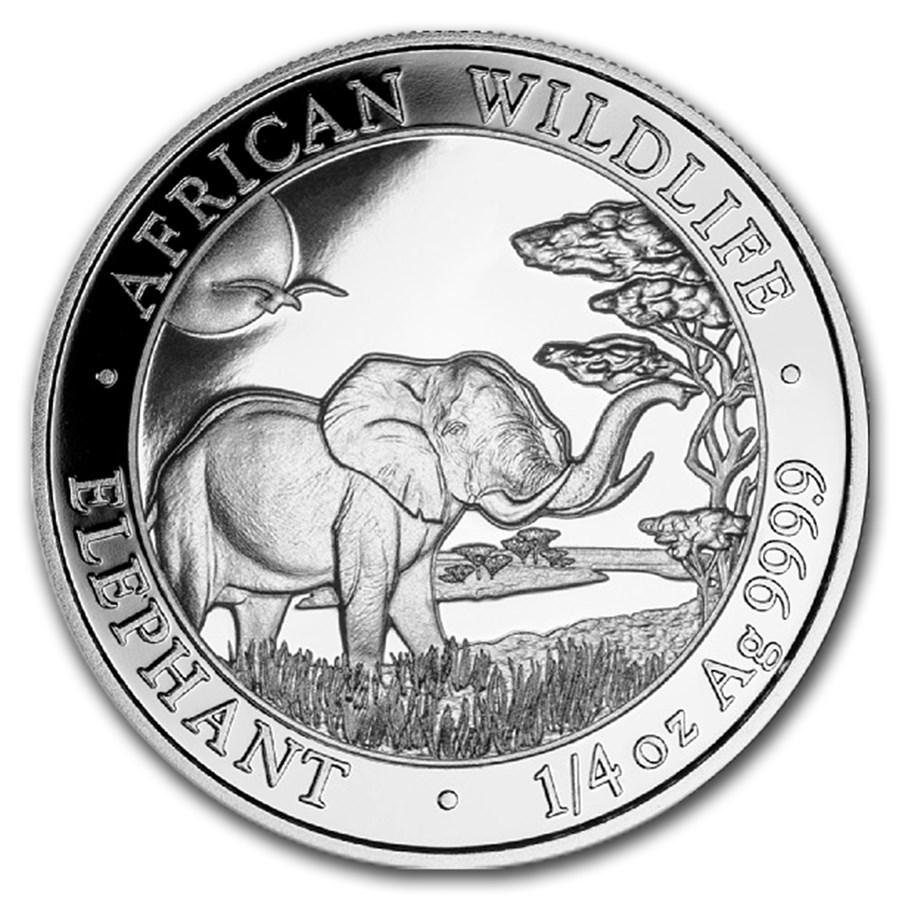 2019 Somalia 1/4 oz Silver Elephant BU