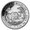 2019 Somalia 1 oz Silver Elephant BU