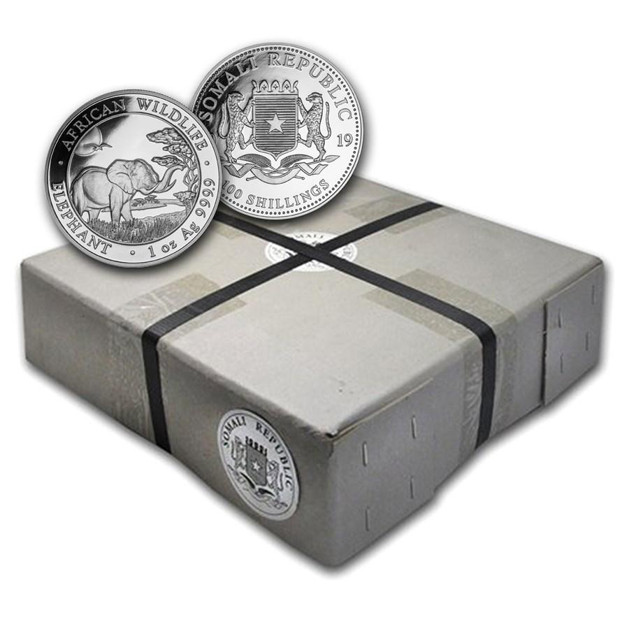 2019 Somalia 500-Coin 1 oz Silver Elephant (Sealed Box)