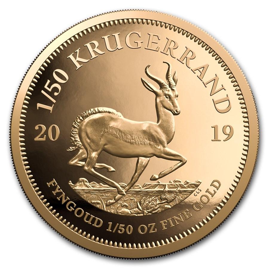 2019 South Africa 1/50 oz Proof Gold Krugerrand