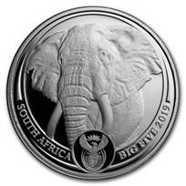 2019 South Africa 1 oz Platinum Big Five Elephant Proof