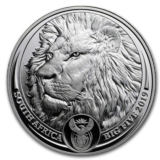 2019 South Africa 1 oz Platinum Big Five Lion Proof