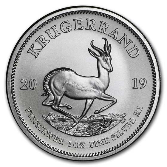 2019 South Africa 1 oz Silver Krugerrand BU