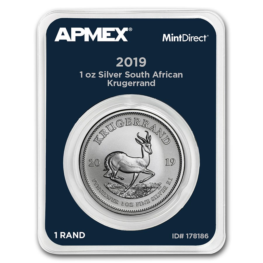 2019 South Africa 1 oz Silver Krugerrand (MintDirect® Single)