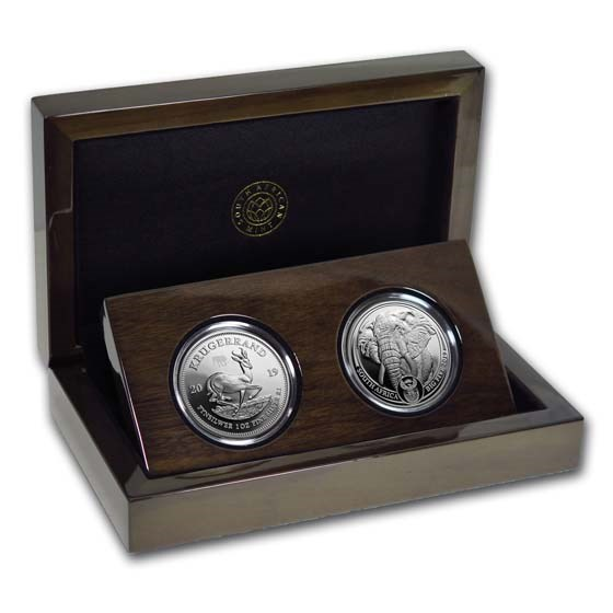 2019 South Africa 2-Coin Silver Krugerrand & Elephant Proof Set