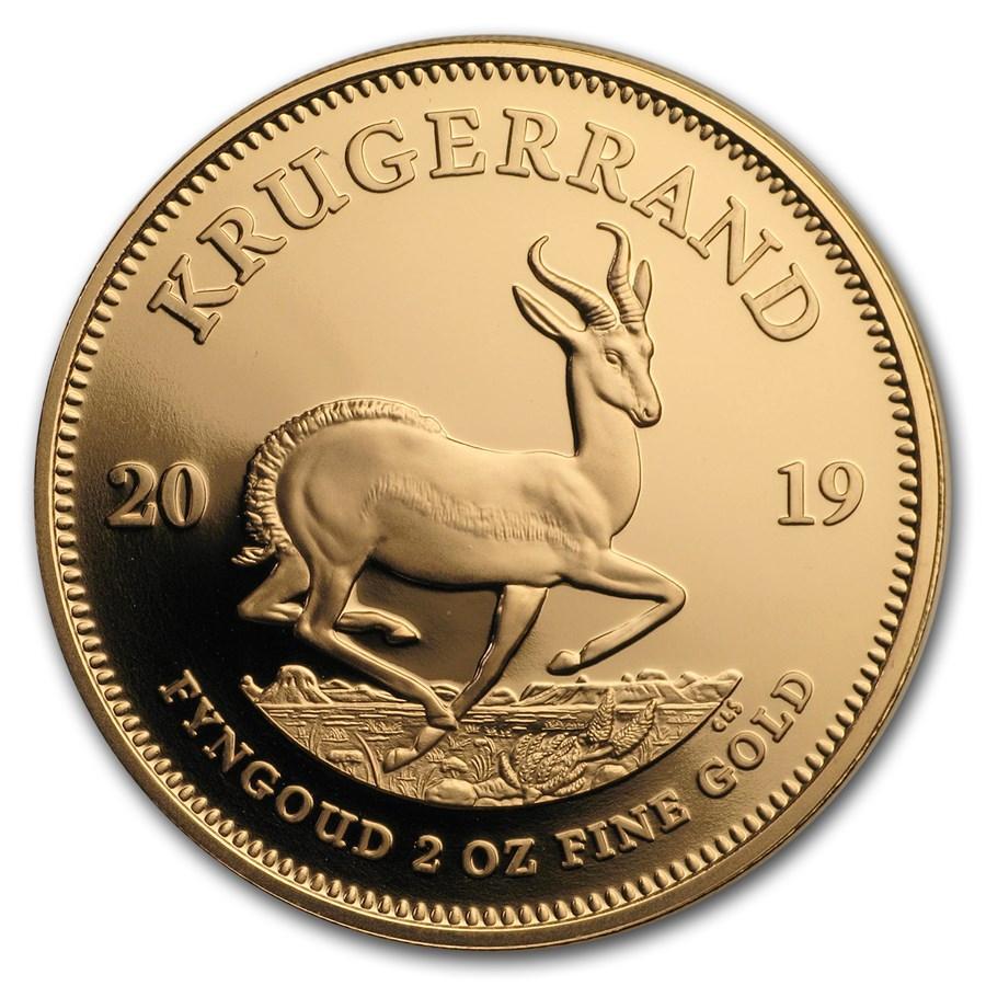 2019 South Africa 2 oz Proof Gold Krugerrand