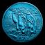 2019 South Georgia Blue Titanium £2: Macaroni Penguin