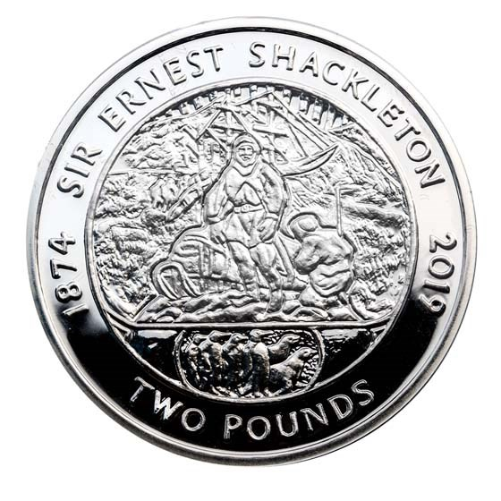 2019 South Georgia Silver £2 Sir Ernest Shackleton Proof