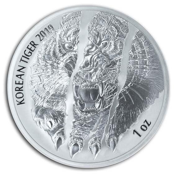 2019 South Korea 1 oz Silver Tiger BU