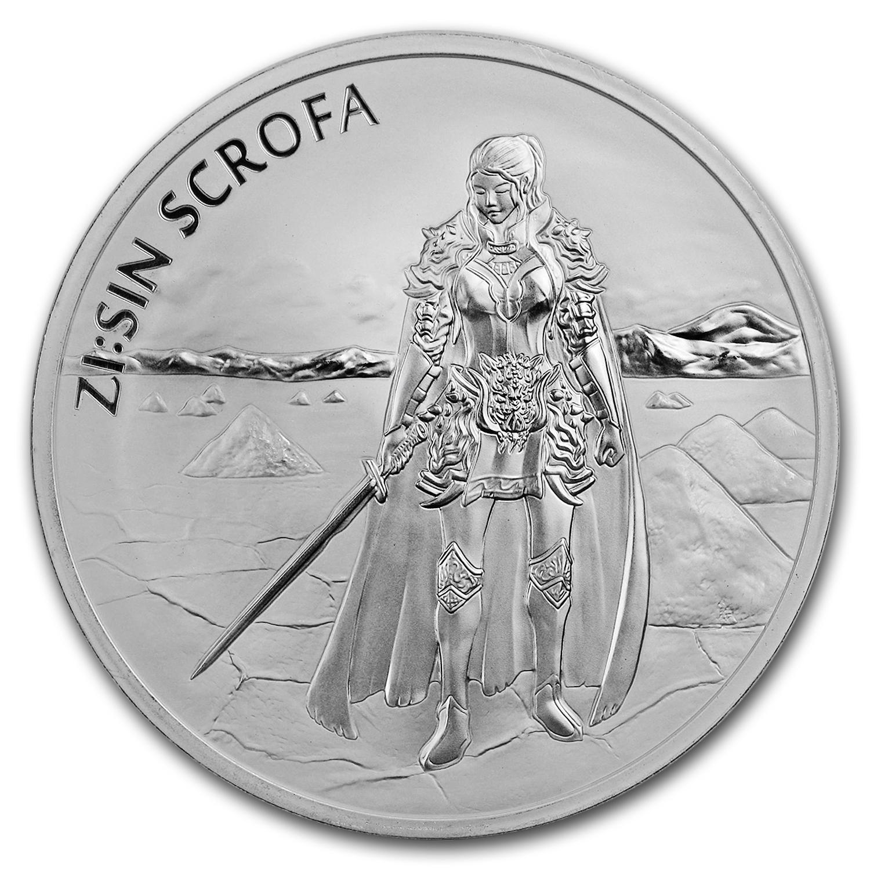 2019 South Korea Zi:Sin Series Scrofa 1 oz .999 Silver Very Limited BU Coin