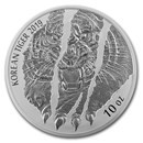 2019 South Korea 10 oz Silver Tiger BU