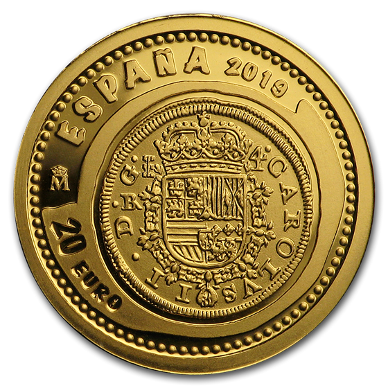 2019 Spain Proof Gold €20 Jewels of Numismatics 4 Escudos