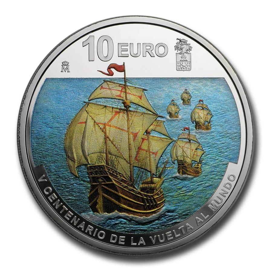 2019 Spain Proof Silver €10 First World Circumnavigation: Elcano
