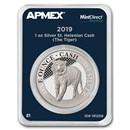 2019 St. Helena 1 oz Silver £1 Cash: The Tiger (MD® Premier)
