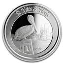 2019 St. Kitts & Nevis 1 oz Silver Pelican BU