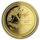 2019 St. Vincent & The Grenadines 1 oz Gold Seaplane BU
