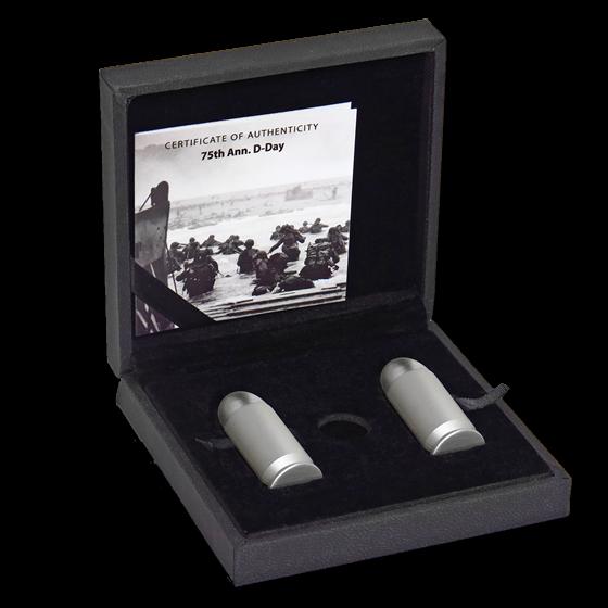 2019 Tanzania 2-Coin 1 oz Silver 75th Anniversary D-Day Bullet