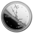2019 Tokelau 1 oz Silver $5 Chronos (Prooflike)
