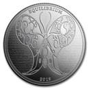 2019 Tokelau 1 oz Silver $5 Equilibrium Butterfly BU