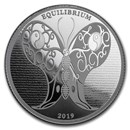 2019 Tokelau 1 oz Silver $5 Equilibrium Butterfly (Prooflike)