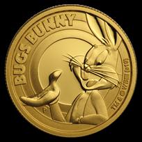 2019 Tuvalu 1/4 oz Gold Looney Tunes Bugs Bunny Proof