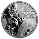 "2019 Tuvalu 1 oz Silver $1 Marvel Series ""Captain America"" BU"