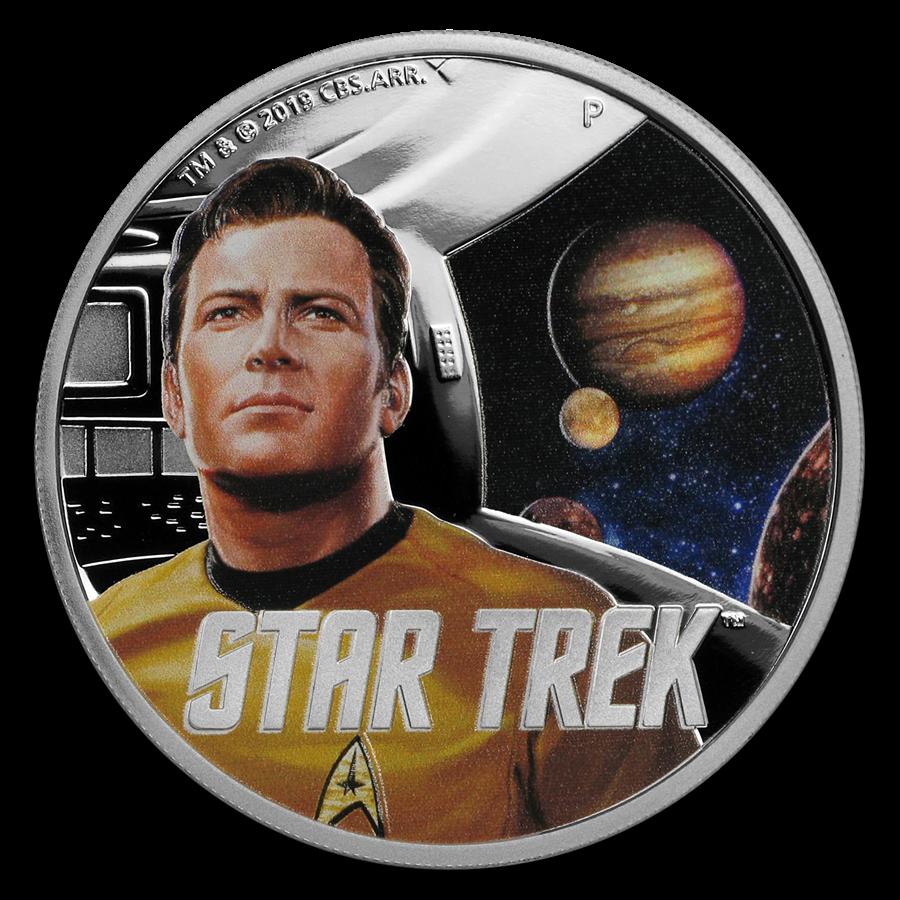 2019 Tuvalu 1 oz Silver Star Trek The Original Series Kirk Proof