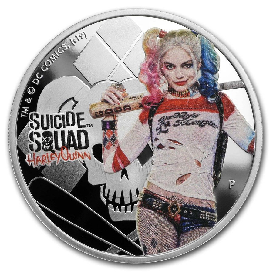2019 Tuvalu 1 oz Silver Suicide Squad Harley Quinn Proof