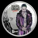 2019 Tuvalu 1 oz Silver Suicide Squad Joker Proof