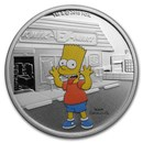 2019 Tuvalu 1 oz Silver The Simpsons: Bart Proof