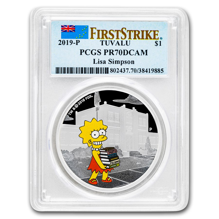 2019 Tuvalu 1 oz Silver The Simpsons: Lisa PR-70 PCGS (FS)