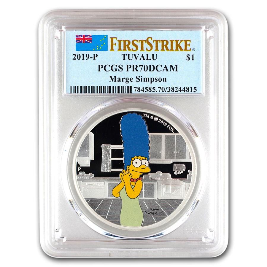 2019 Tuvalu 1 oz Silver The Simpsons: Marge PR-70 PCGS (FS)