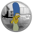 2019 Tuvalu 1 oz Silver The Simpsons: Marge Proof