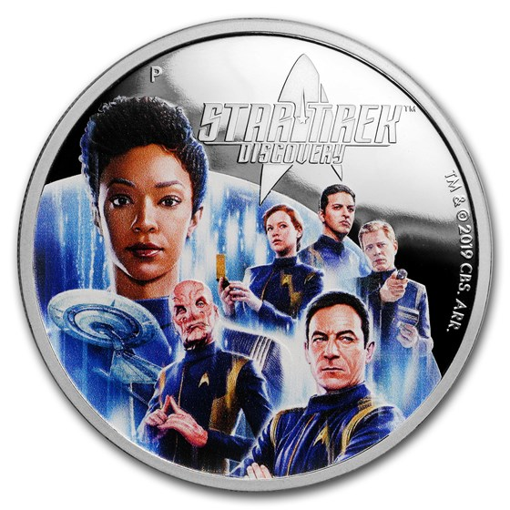2019 Tuvalu 2 oz Silver Star Trek Discovery Proof