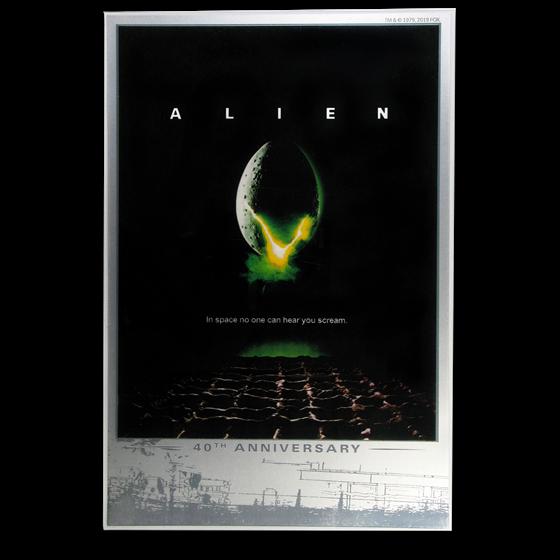2019 Tuvalu Silver 40th Anniversary Alien Foil