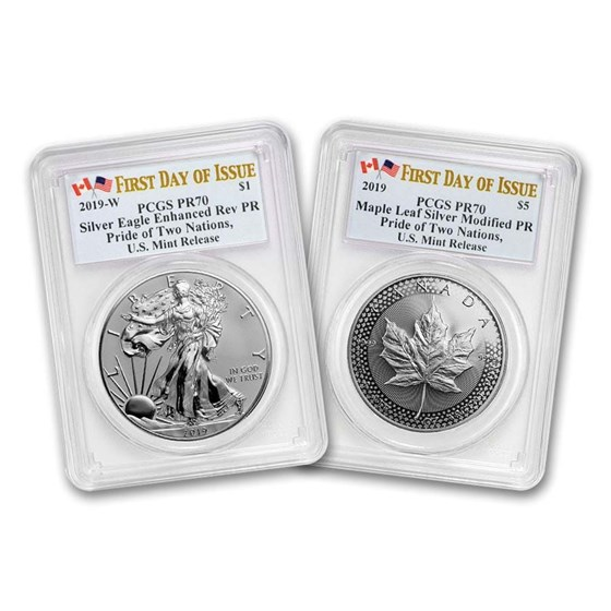2019 U.S. Mint Pride of Two Nations 2-Coin Set PR-70 PCGS (FD)