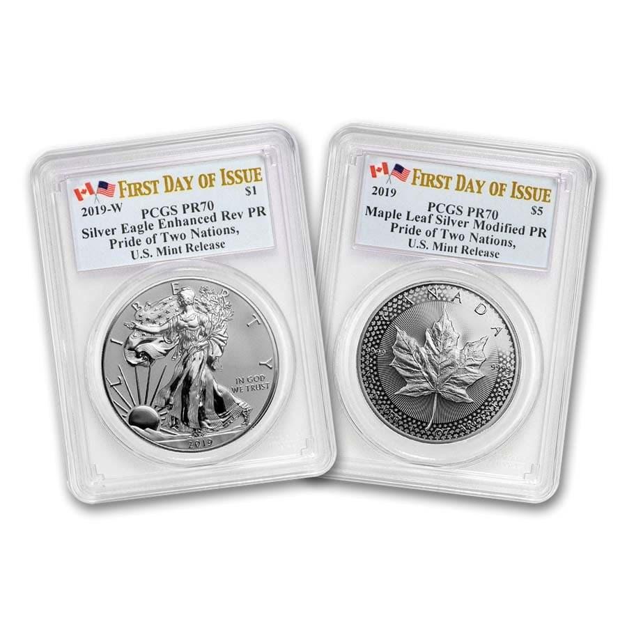 2019 U.S. Mint Pride of Two Nations 2-Coin Set PR-70 PCGS (FDI)